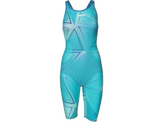 arena R-EVO ONE Kokovartalo Avoin selkä Legsuit Uimapuku LTD Edition 2019 Naiset, blue glass